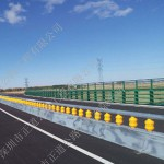 Rotary steel barrier fence