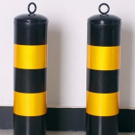 Safety sign pile elastic separation column